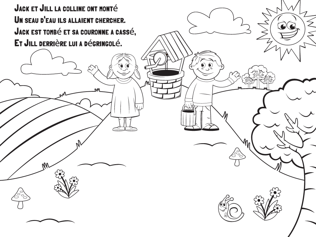 Download French Colouring Page